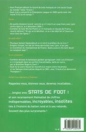 Stats de foot - 4ème de couverture - Format classique