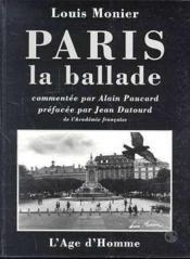 Paris, La Ballade - Couverture - Format classique