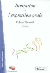 Invitation à l'expression orale (7e édition) - Couverture - Format classique