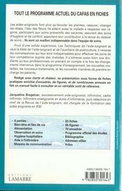 Techniques de l'aide soignante fiches pratiques - 4ème de couverture - Format classique