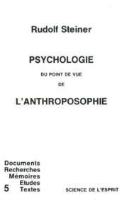 Psychologie du point de vue de l'anthroposophie - Couverture - Format classique