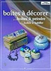 Boites A Decorer - Couverture - Format classique