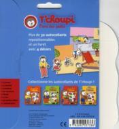 Les autocollants de T'choupi ; l'école - 4ème de couverture - Format classique