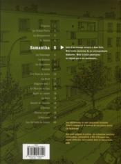 Tendre banlieue t.5 ; Samantha - 4ème de couverture - Format classique