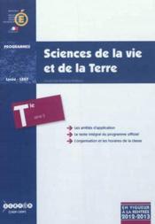 Sciences De La Vie Et De La Terre - Terminale Serie S - Couverture - Format classique