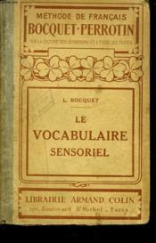 Le Vocabulaire Sensoriel - Couverture - Format classique