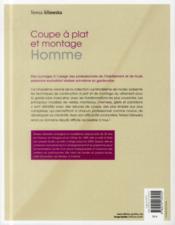 Le modélisme de mode t.5 ; coupe à plat et montage homme - 4ème de couverture - Format classique