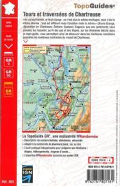 Tours et traversées de Chartreuse (édition 2015) - 4ème de couverture - Format classique