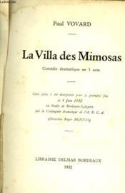 La Villa Des Mimosas - Couverture - Format classique
