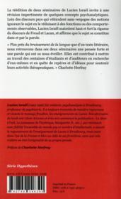 La parole et l'aliénation - 4ème de couverture - Format classique