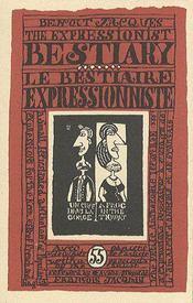 Bestiaire Expressionniste - Couverture - Format classique