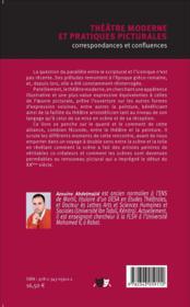 Théâtre moderne et pratiques picturales ; correspondances et confluences - 4ème de couverture - Format classique