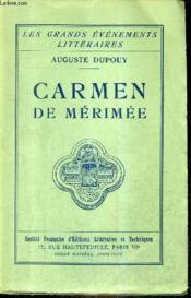 Carmen De Merimee / Collection Les Grands Evenements Litteraires. - Couverture - Format classique
