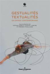 Gestualités/textualités en danse contemporaine - Couverture - Format classique