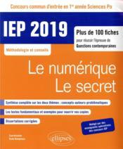 IEP ; méthodologie et conseils ; thème 1, thème 2 (édition 2019) - Couverture - Format classique