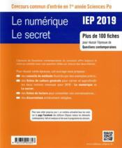 IEP ; méthodologie et conseils ; thème 1, thème 2 (édition 2019) - 4ème de couverture - Format classique