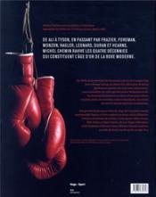 L'âge d'or de la boxe - 4ème de couverture - Format classique
