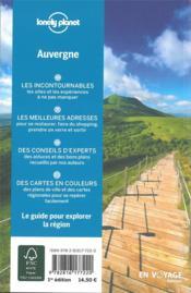 Explorer la région ; Auvergne (édition 2019) - 4ème de couverture - Format classique