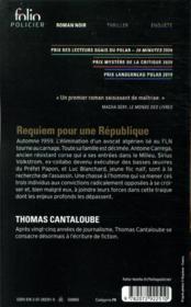 Requiem pour une république - 4ème de couverture - Format classique