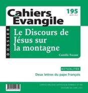 Cahiers de l'Evangile N.195 ; le discours de Jésus sur la montagne - Couverture - Format classique