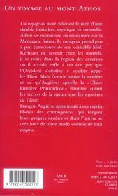 Un voyage au mont athos - 4ème de couverture - Format classique