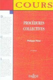 Procedures Collectives (5e Edition - Intérieur - Format classique
