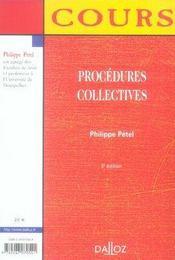 Procedures Collectives (5e Edition - 4ème de couverture - Format classique