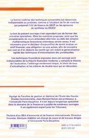 Finance a long terme ; theories calculs et exercices corriges 2e edition ; exercices et cas ; edition 2001 - 4ème de couverture - Format classique