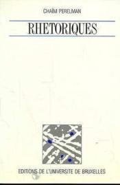 Rhetoriques - Couverture - Format classique