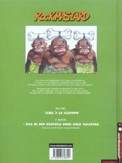 Rock mastard t.1 ; echec a la gestapo - 4ème de couverture - Format classique