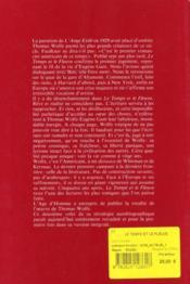 Le temps et le fleuve - 4ème de couverture - Format classique