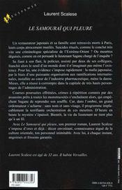 Le Samourai Qui Pleure - 4ème de couverture - Format classique