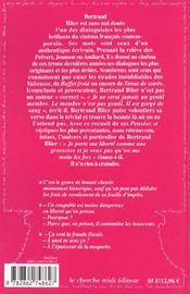 Pensees et repliques de bertrand blier - 4ème de couverture - Format classique