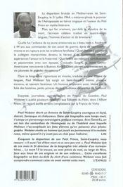 Saint exupery ned - 4ème de couverture - Format classique