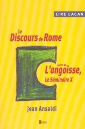 Lire lacan/le discours de rome - Intérieur - Format classique