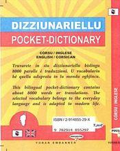 Dico de poche córsu-inglese / english-corsican - 4ème de couverture - Format classique