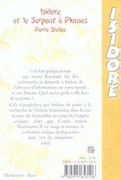 Isidore Et Le Serpent A Plumes T3 - 4ème de couverture - Format classique