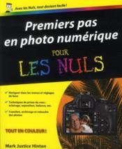 Premiers pas en photo numérique - Couverture - Format classique