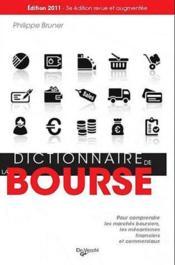 Dictionnaire de la bourse - Couverture - Format classique