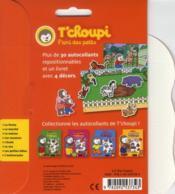 Les autocollants de T'choupi ; le zoo - 4ème de couverture - Format classique