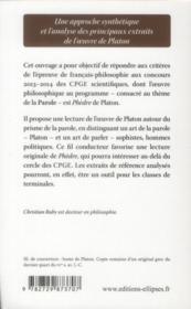 Phedre, platon - 4ème de couverture - Format classique