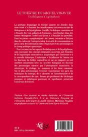 Le théâtre de Michel Vinaver ; du dialogisme à la polyphonie - 4ème de couverture - Format classique