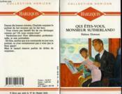 Qui Etes Vous Monsieur Sutherland ? - Portrait Of A Stranger - Couverture - Format classique