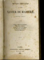 Oeuvres Completes Du Comte Xavier De Maistre - Couverture - Format classique