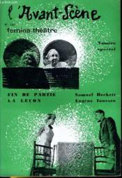 L'AVANT-SCENE - FEMINA-THEATRE N° 156 - FIN DE PARTIE de SAMUEL BECKETT et LA LECON de EUGENE LONESCO - Couverture - Format classique