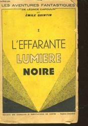 L'Effarate Lumiere Noire - Couverture - Format classique