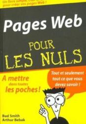 Page Web Poche Pour Les Nuls - Couverture - Format classique