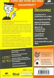 Page Web Poche Pour Les Nuls - 4ème de couverture - Format classique
