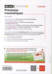 Processus traumatiques ; ue 2.4 - 4ème de couverture - Format classique
