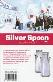 Silver spoon T.8 - 4ème de couverture - Format classique